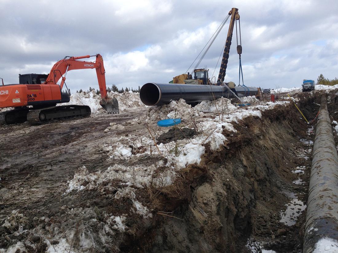 Ремонтные работы напервой нитке газопровода «Вуктыл— Ухта»